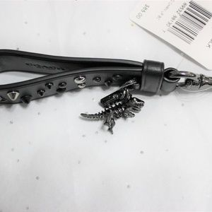 Coach Accessories - COACH REXY Dinosaur Studded Leather Loop FOB Charm